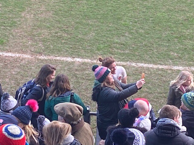 @Carmene62 it seems My Official Yorkshire #RedRoses Fan Squad's Unofficial Paparazzi (Dino ) got a cheeky shot of you with The Undisputed Queen Of English Rugby... #SHOWUP #RoseArmy #SendHerVictorious #WomensRugbyRockspic.twitter.com/xPPLkdccmT