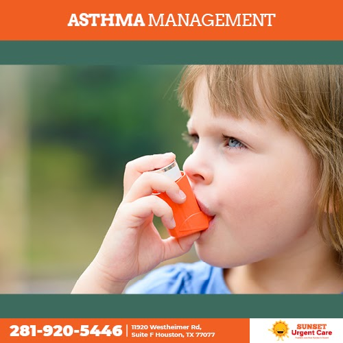 Proper asthma management may reduce the effects and may help a child to cope with the difficulties of an asthma-attack.  Call at 281-920-5446 and schedule an appointment with us. #sunset #pediatrics #urgentcare #Allergies #Houston #texas #patients #emergency #healthy #physician