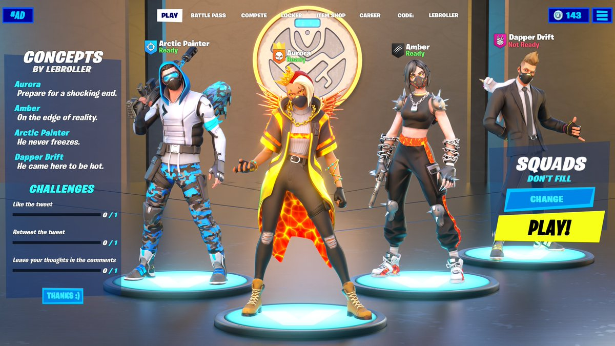 The Squad reunites.I had so much fun making this and I think it turned out awesome! Let me know what you think!#Fortnite #FortniteArt #Fortnite3D #FortniteConcept