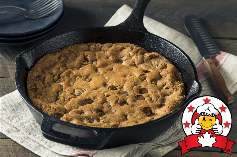 """10"""" Baked Cookie!  http://bit.ly/BakedCookie10  Why? Because #Chocolate doesn't ask silly questions, chocolate understands....   Try our giant 10"""" #baked #cookie, available in chocolate chip and double chocolate #desserts #Edmonton 🍪  Cut into 6 slices, it's perfect for sharing 🤗"""