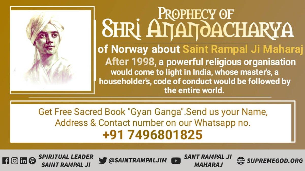 #Who_Is_WorldLeader Prophecy of shri anandacharri of norway abour #SaintRampalJiMaharaj<br>http://pic.twitter.com/RDEKPzIuc1