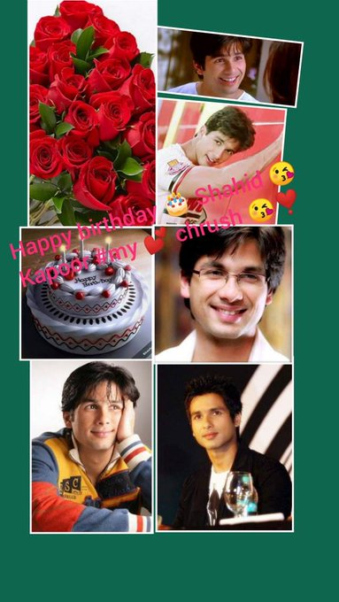 Happy birthday shahid Kapoor good wishes ur life &love of u
