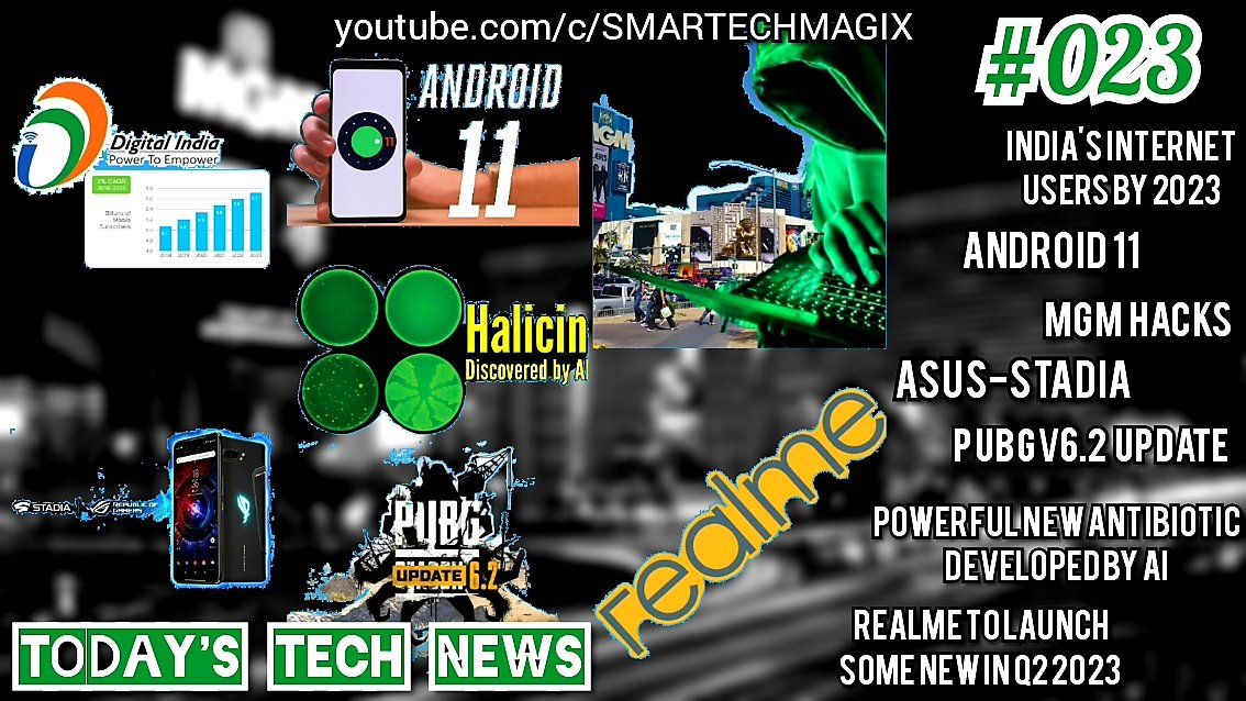 #TechNews_023 – CISCO Report,Android 11,MGM Hack,Asus Stadia,PUBG v6.2,PowerfulNewAntibiotic,Realme  https://youtu.be/bbN0fdwmiAI  #TodayTechnologyNews, #LatestUpdates, #LatestAnalysis, #TechnologyNews, #LatestTechNews, #Today, #NewGadgets, #LatestMobilePhonespic.twitter.com/GmgjuZIBcQ