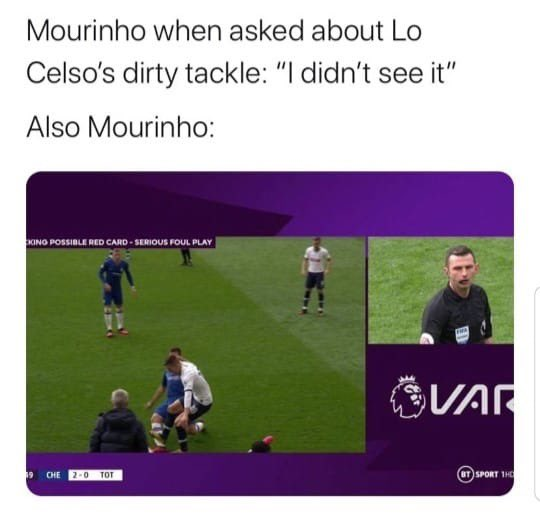 How can you hate this man?! 😂 #tft #epl #jose #mourinho #spurs #chelsea #var