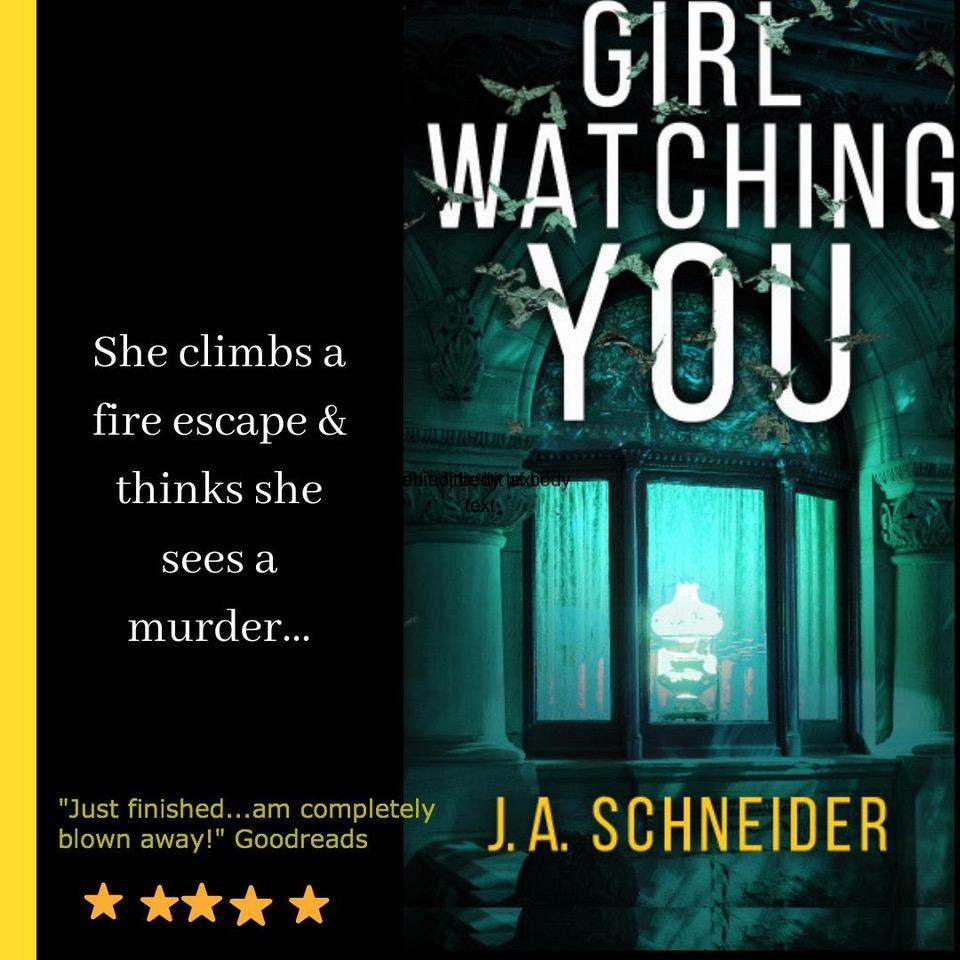 "A #thriller about a daring, impulsive & maybe a little nuts/heroic young woman. ""A riveting romantic suspense thriller - am completely blown away!"" #PsychologicalThriller #Books #CrimeFiction #amwriting #bookbuzz  #RomanticSuspense   http://getbook.at/GirlWatchingYou"