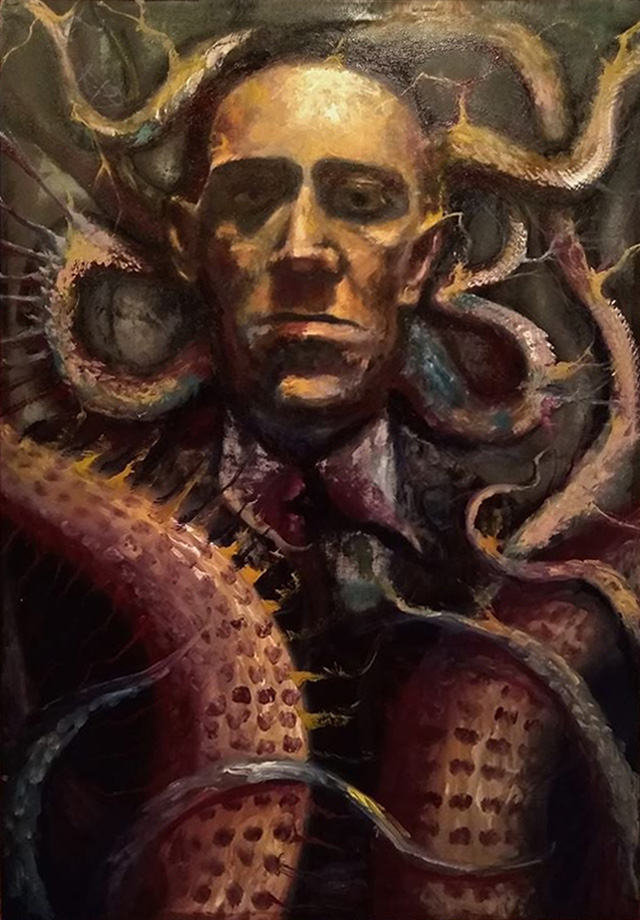 🦑The Edge of Madness: Lovecraft Portrait🎨Michael Kulick🦑#HPLovecraft #Cthulhu #Horror