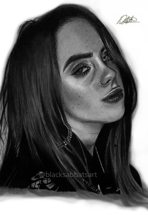 Insta and Twitter ruined the photo quality but I finished this today @billieeilish