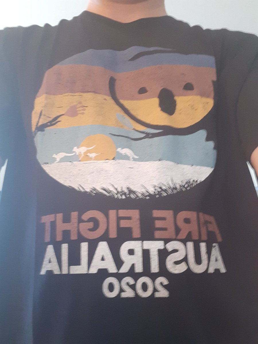👑🇦🇺 New t-shirt!! 👍🎸🐨 @FireFightAU @OIQFC #QAL #QALAdelaide