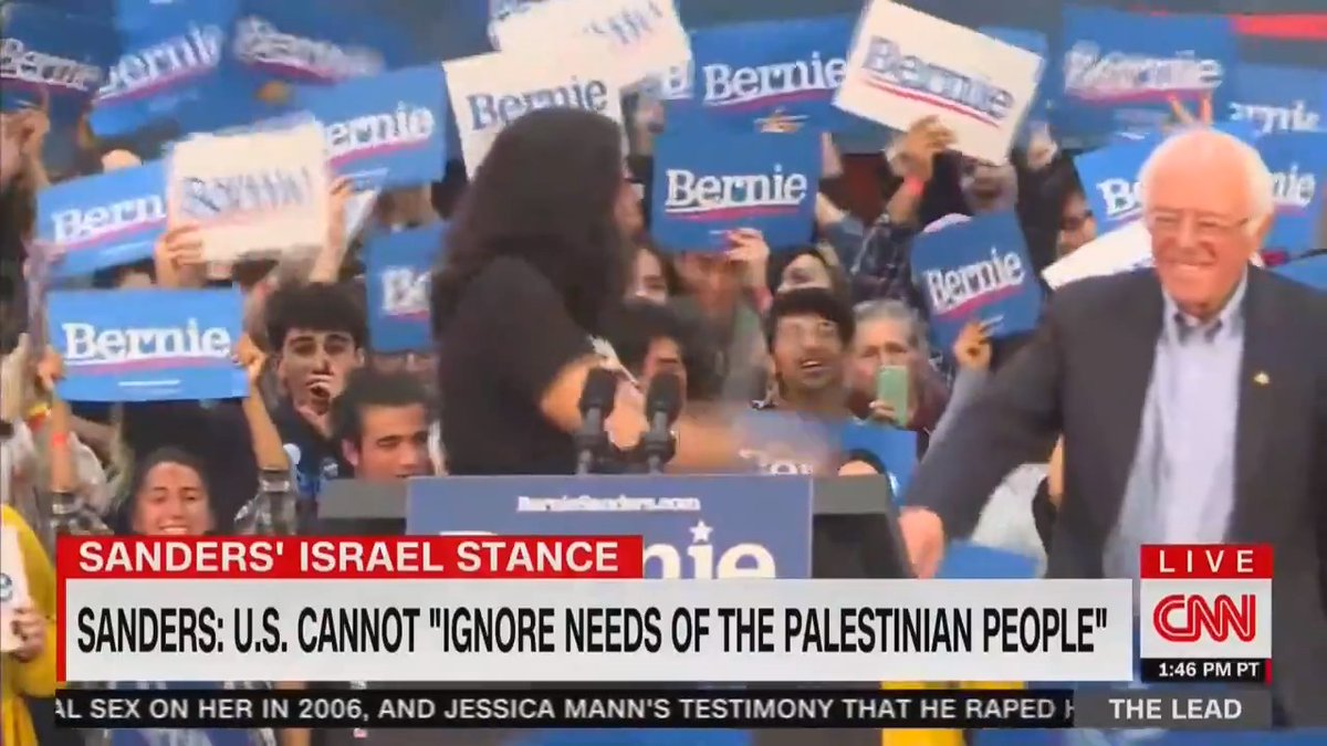 "🚨 REPORT: Bernie Sanders' is ""embracing campaign surrogates"" with a history of anti-Semitic views."