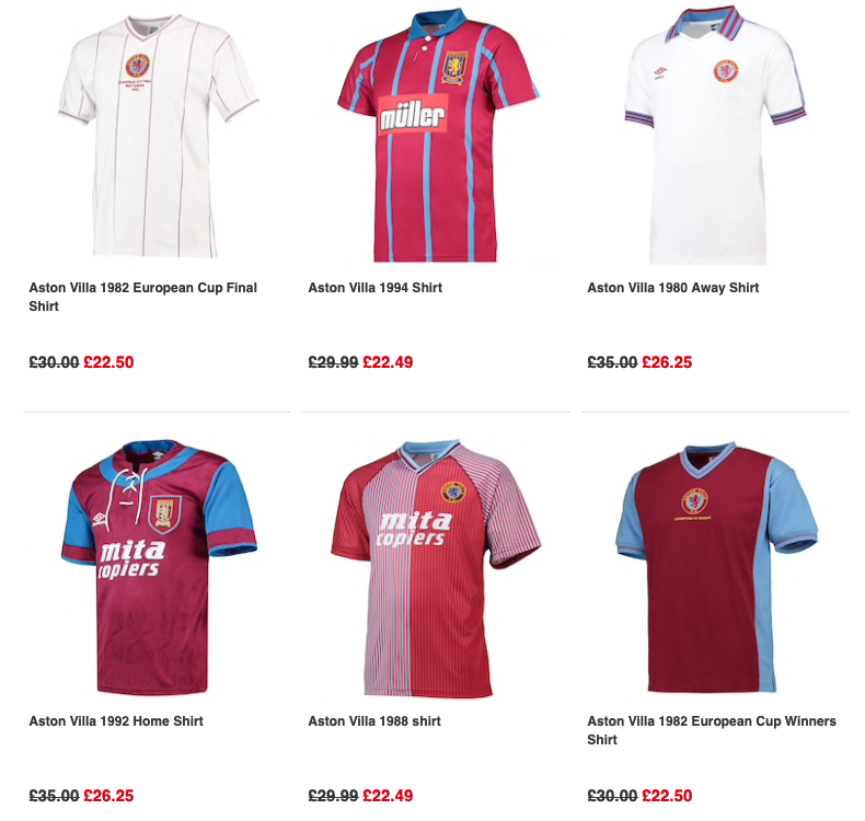 🚨👕The best Villa retro prices I've found at the mo. 25% off #AVFC retro shirts on Kitbag and still time for delivery before Wembley. Check it out here👉