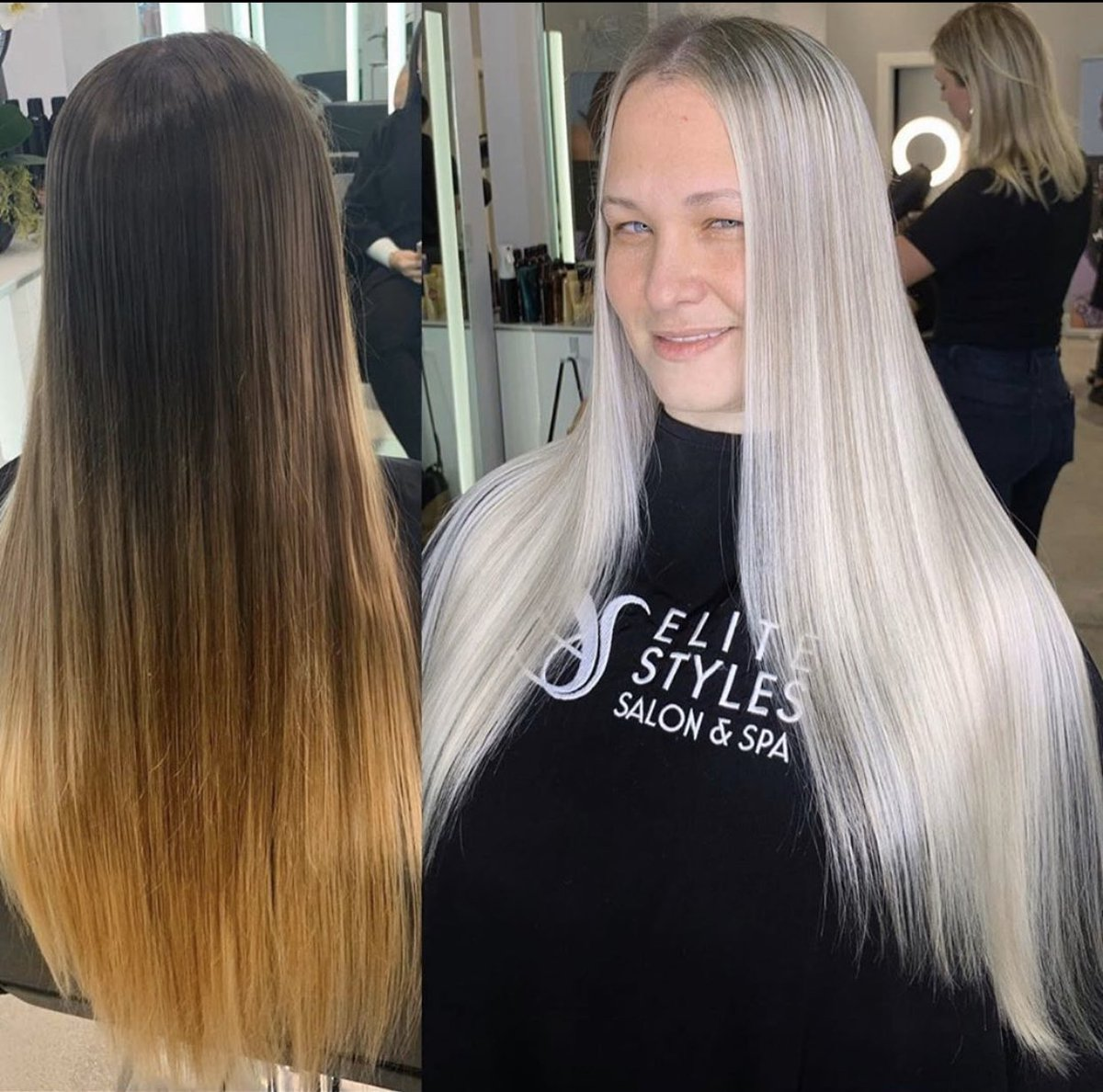 """""""After using the best products combined with the best bond builder @olaplex, I was able to give her what she desired, a beautiful and healthy Icy Platinum Blonde, without compromising her hair integrity."""" Stylist : @betos_hair  #olaplex #platinumhair pic.twitter.com/A13qOiSYgF"""