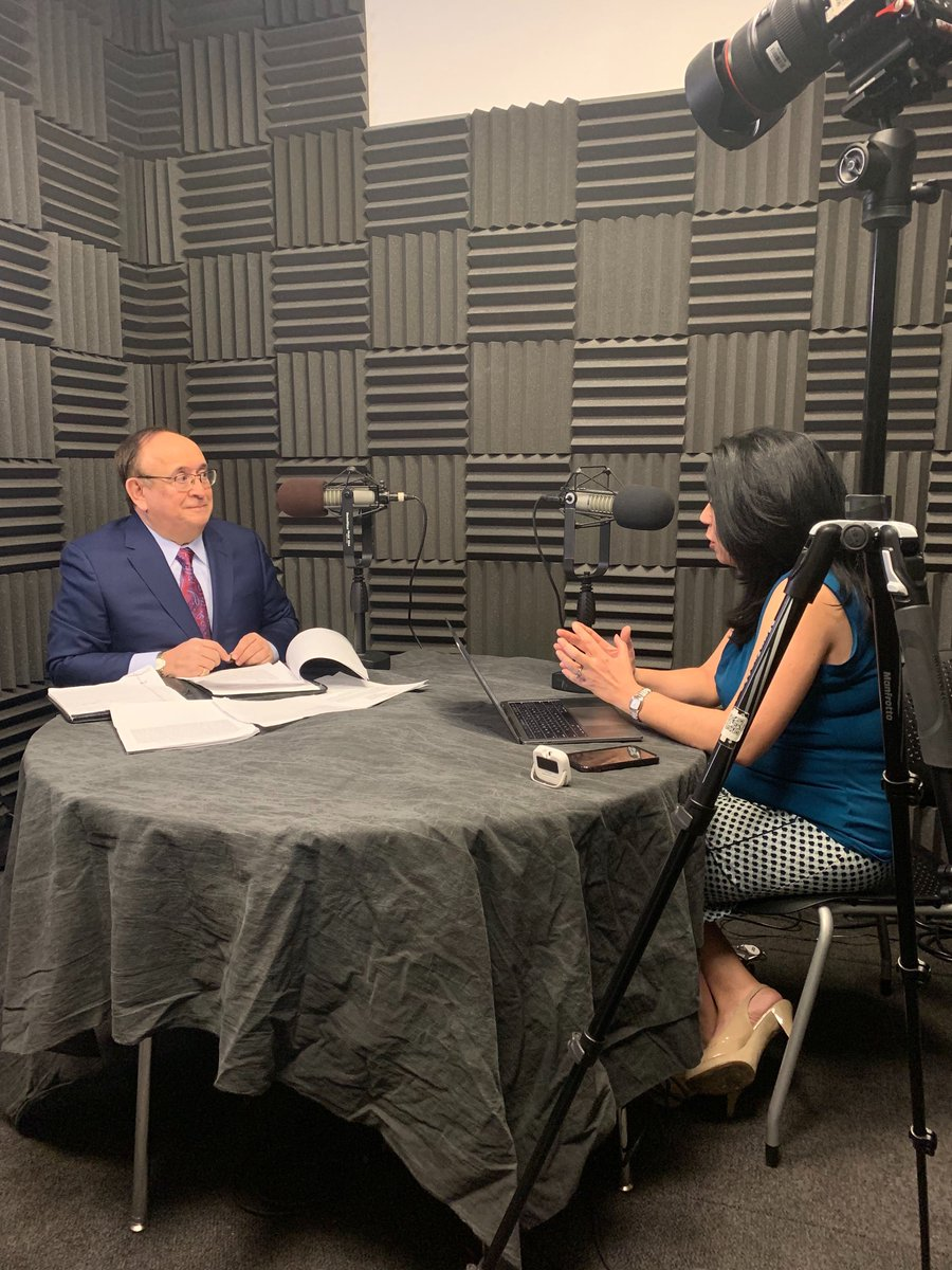 The best in the biz! Huge thank you to @LeeMiringoff of @maristpoll for stopping by @YahooFinance for this week's Electionomics podcast w/ @AlexisTVNews. Check it out LIVE on Wednesday on #ApplePodcasts. @Marist - https://apple.co/2SYgFH7pic.twitter.com/L45HR9eKTa