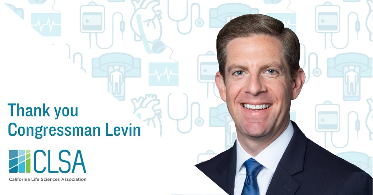 Thank you @RepMikeLevin for your work to #RepealDeviceTax! #California's 1,800+ #medtech companies & 81,000+ employees can now refocus on creating new technologies for patients & bringing more #lifesciences jobs to CA. #MedicalDeviceTax #ProtectMedicalInnovation