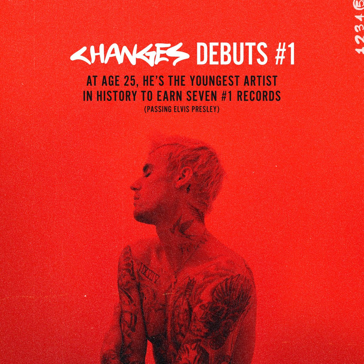 Replying to @bieberfever: #CHANGES DEBUTS AT #1