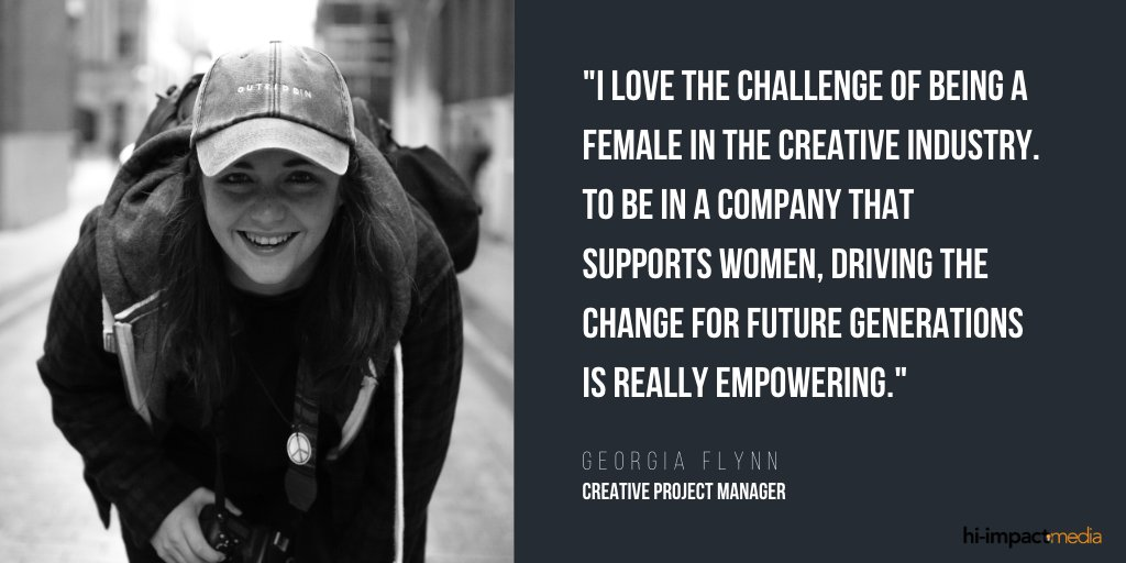 Most of you know our fantastic Head of Media, @hiimpactgeorgia. Thank you for being such a strong female presence in the creative industry! #creative #womeninmedia #EmpowerWomen