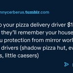 Image for the Tweet beginning: always tip your delivery driver!