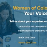 Image for the Tweet beginning: Attention #WomenofColor in #Tech  When you