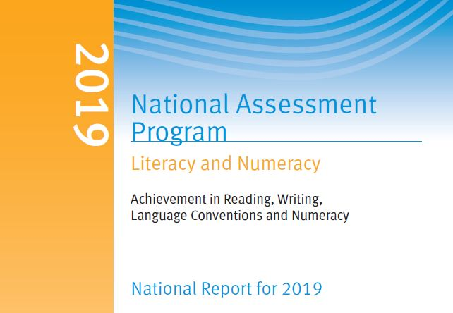 The 2019 #NAPLAN National Report has been released (confirming initial findings published in August 2019) with further info including comparisons of performance by gender, Indigenous status, LBOTE, parental occupation/education, and school location: nap.edu.au/results-and-re…