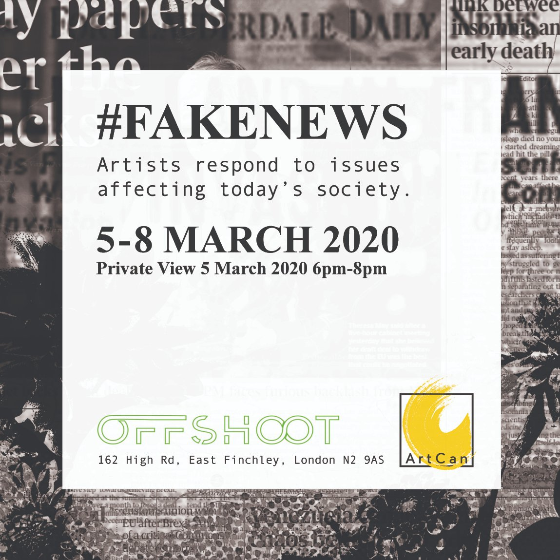 I've been working on an exhibition these past few months with @RoshaNutt and @theworkshopn4 and it opens next week! Do come along if you can. RSVP to the Private View here: https://www.eventbrite.co.uk/e/fakenews-private-view-tickets-91527113059… #artexhibition #northlondon pic.twitter.com/1qTffIDUTe
