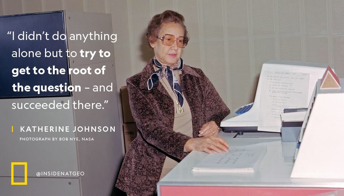 Rest in Power, Katherine Johnson—a trailblazing mathematician whose calculations sent the first Americans to space.
