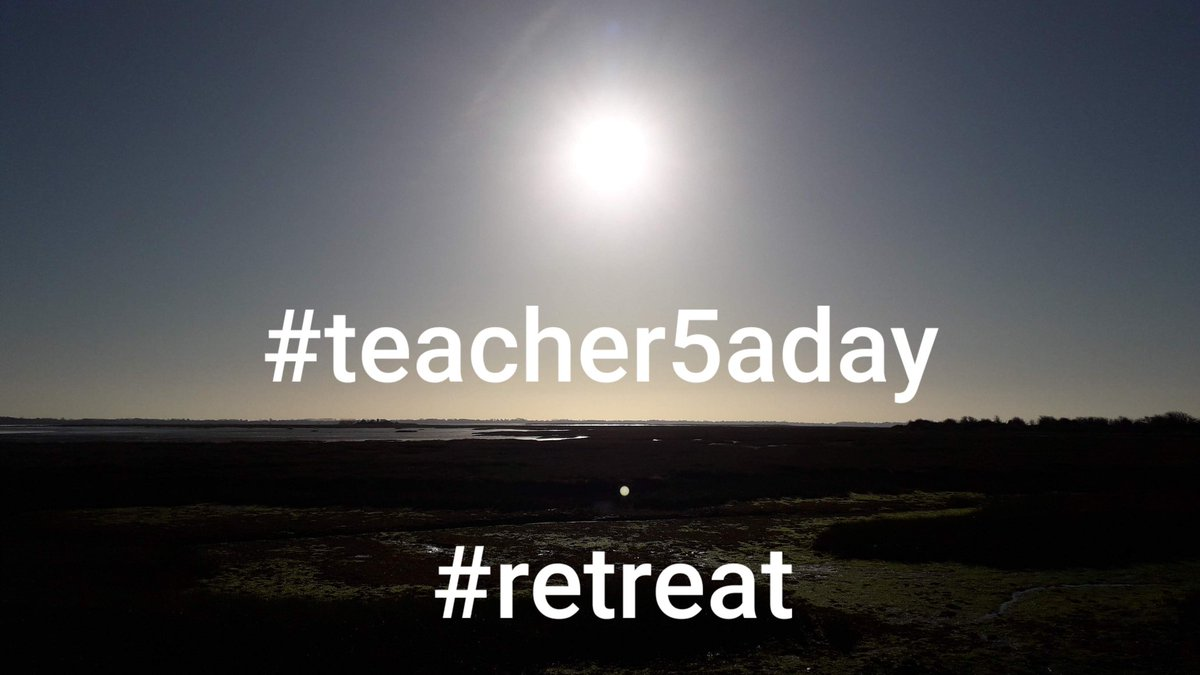 Thinking about organising a #teacher5aday #retreat 1/4