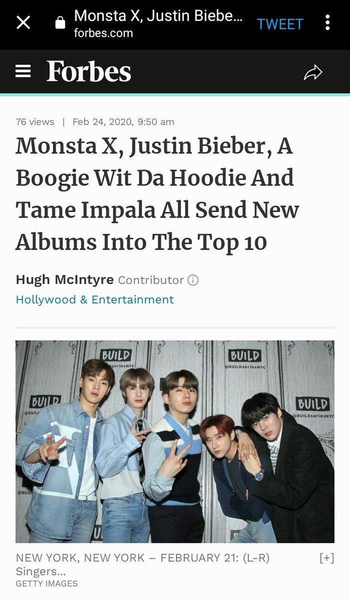RT @wonniebee: MONSTA X on Forbes.  Full article: https://t.co/wbf1GRNJbl https://t.co/Sb7AMZIIFd