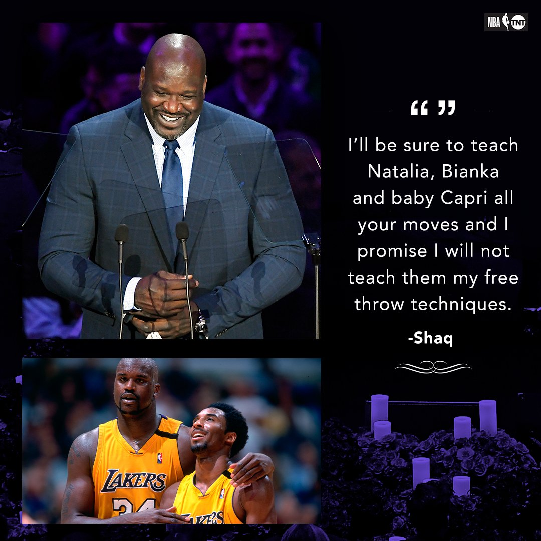 Shaq vows to make sure Kobe's girls know his game.