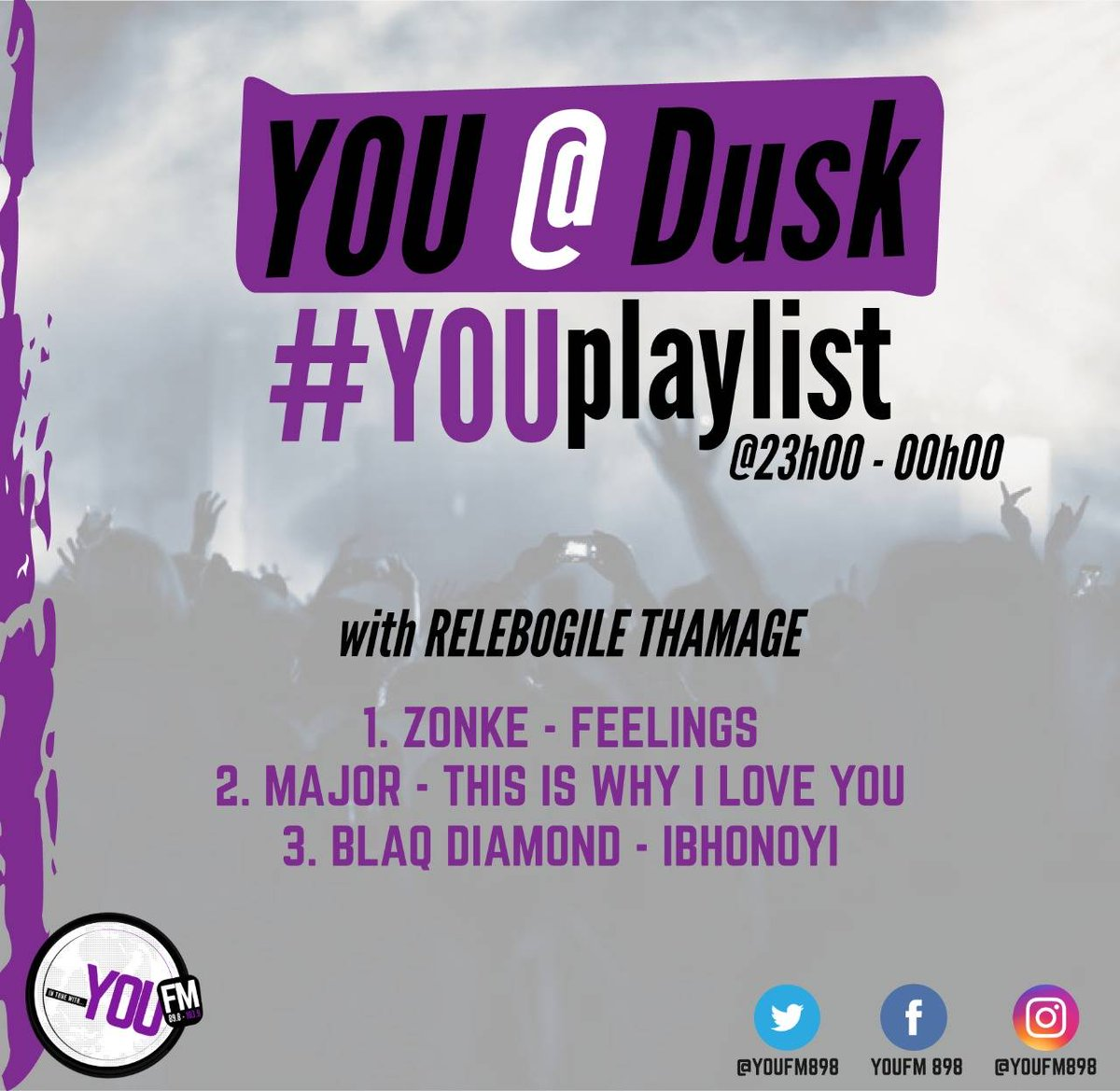 Good music brings good memories #YOUPlaylist   #YOUAtDusk with @vincentmaseko1  DSTV Channel 842  #CelebratingYOU #YOUInspireUs