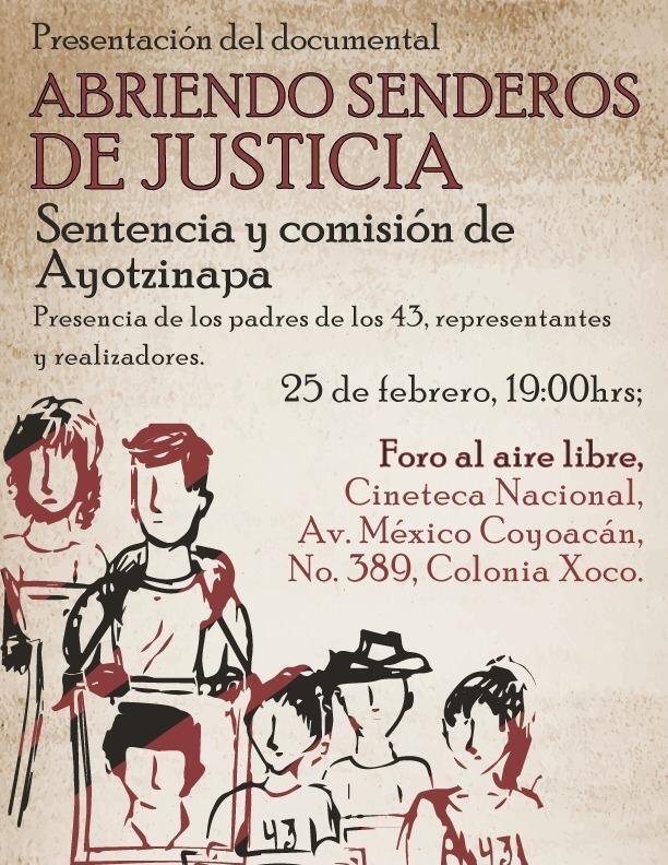 """Margarita Zires dirige """"Abriendo senderos de justicia.Sentencia y comisión de Ayotzinapa"""",un documental nítido sobre la justicia anhelada por padres y madres de normalistas.Un gusto colaborar y prestar mi voz en la narración de esta producción independientepic.twitter.com/A4ltVfj822"""