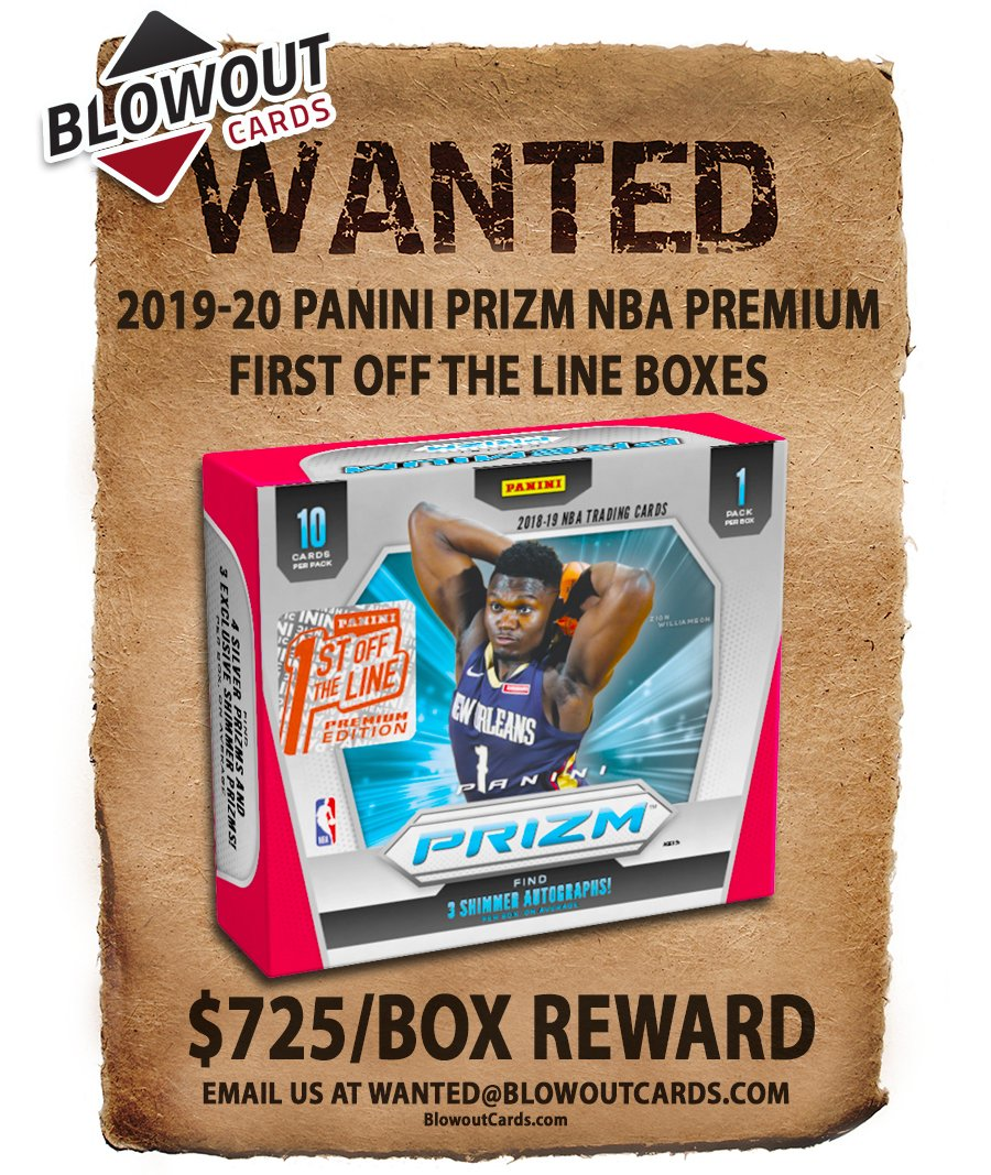 Plenty of updates today ...  There are 70+ past Panini boxes in the Blowout's Most Wanted Megapost -- see all here >>  #collect  @PaniniAmerica #TheHobby #NBA #NFL #MLB #FOTL #ZionWilliamson