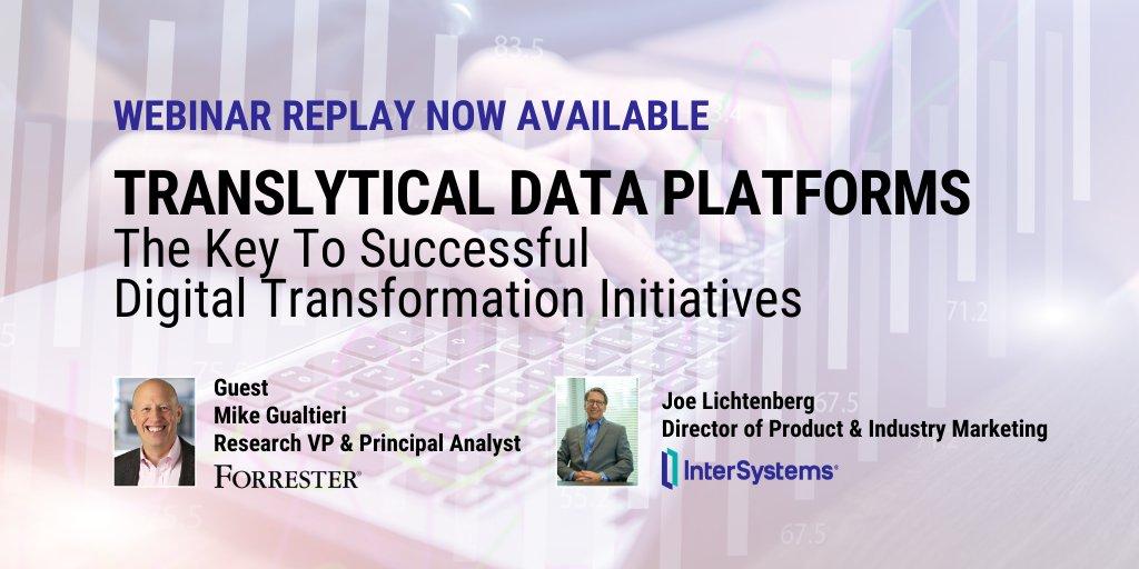 Forrester Research   Data Platforms Webinar