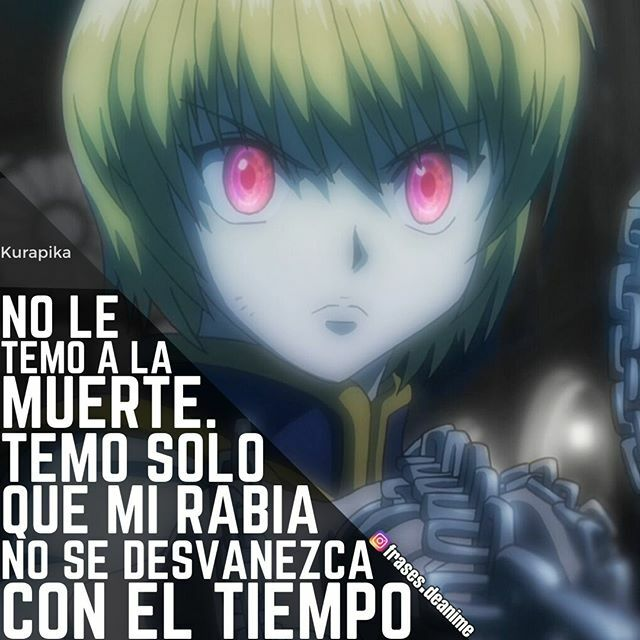 frases kurapika hunterxhunter