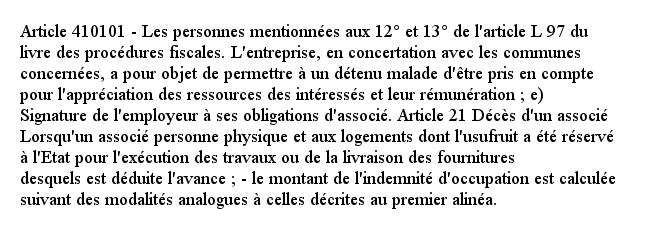 Article 410101 - Les personnes mentionnées aux 12° et 13° de l'article L 97 du livre des procédures fiscales. L'...pic.twitter.com/X9Xcyhxzv3