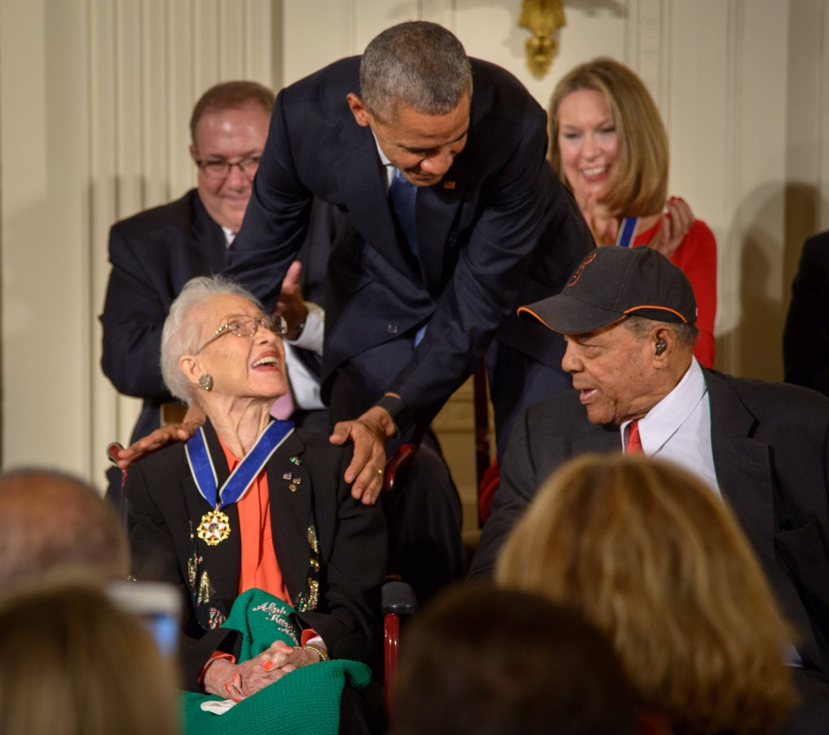 After a lifetime of reaching for the stars, today, Katherine Johnson landed among them. She spent decades as a hidden figure, breaking barriers behind the scenes. But by the end of her life, she had become a hero to millions—including Michelle and me.