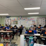 Image for the Tweet beginning: 4th grade readers working hard