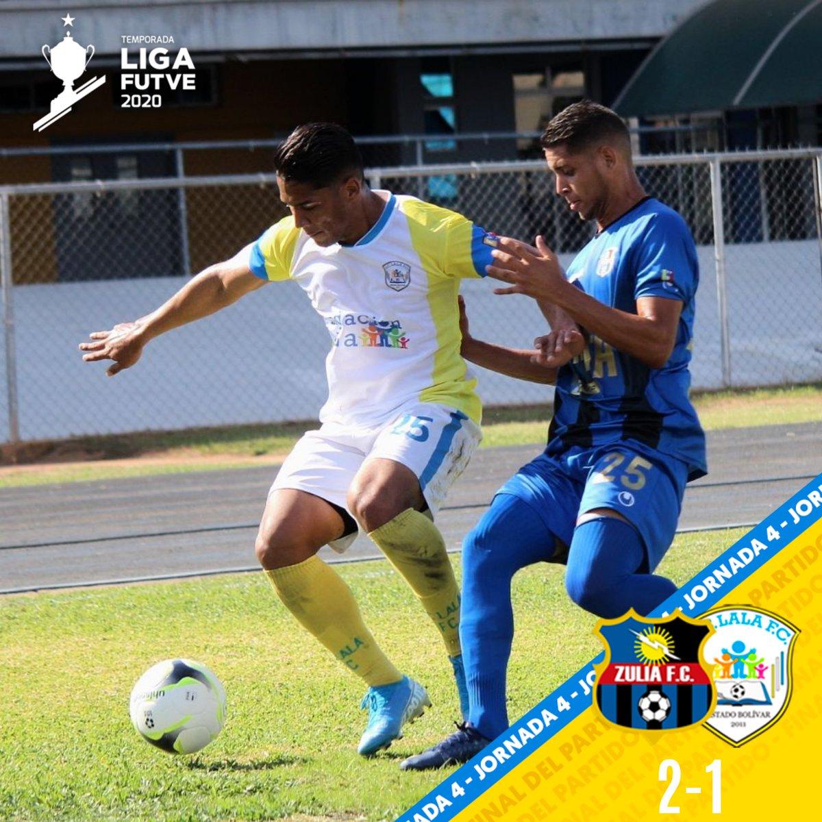 FT: @Zulia_FC 2-1 @LalaFutbolClub  Carlos Salazar 5' y Yanowsky Reyes 18' (ZUL); José Rondón 27' (LFC) #LigaFUTVE #FUTVExMTV pic.twitter.com/ycs1mMFo0m