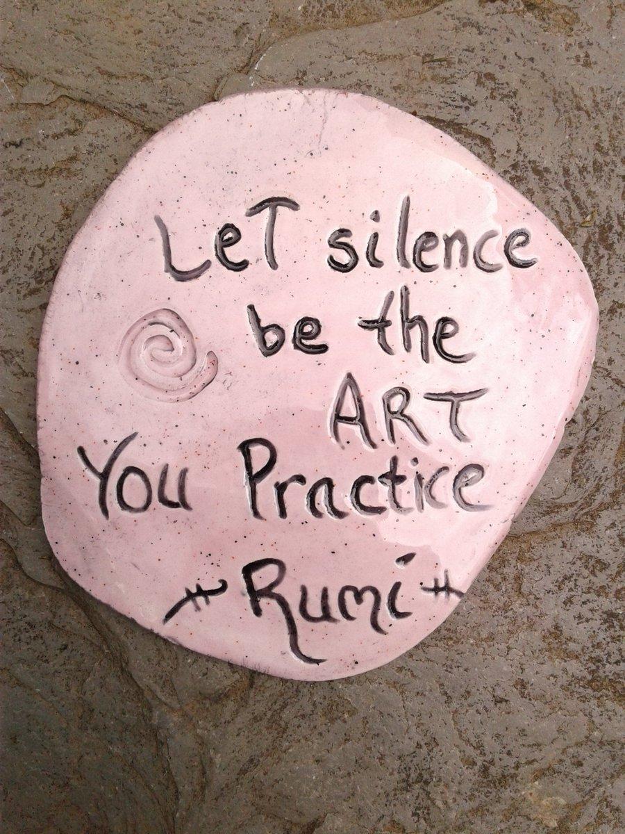 "Rumi Inspirational Quote Wall Decor Pink Lilac Ceramic Decorative Tile Wall Art Let Silence be the Art 3-3/4"" x 3-1/2"" http://tuppu.net/3c587456  #InspirationWallArtpic.twitter.com/vbVg7WxRJs"
