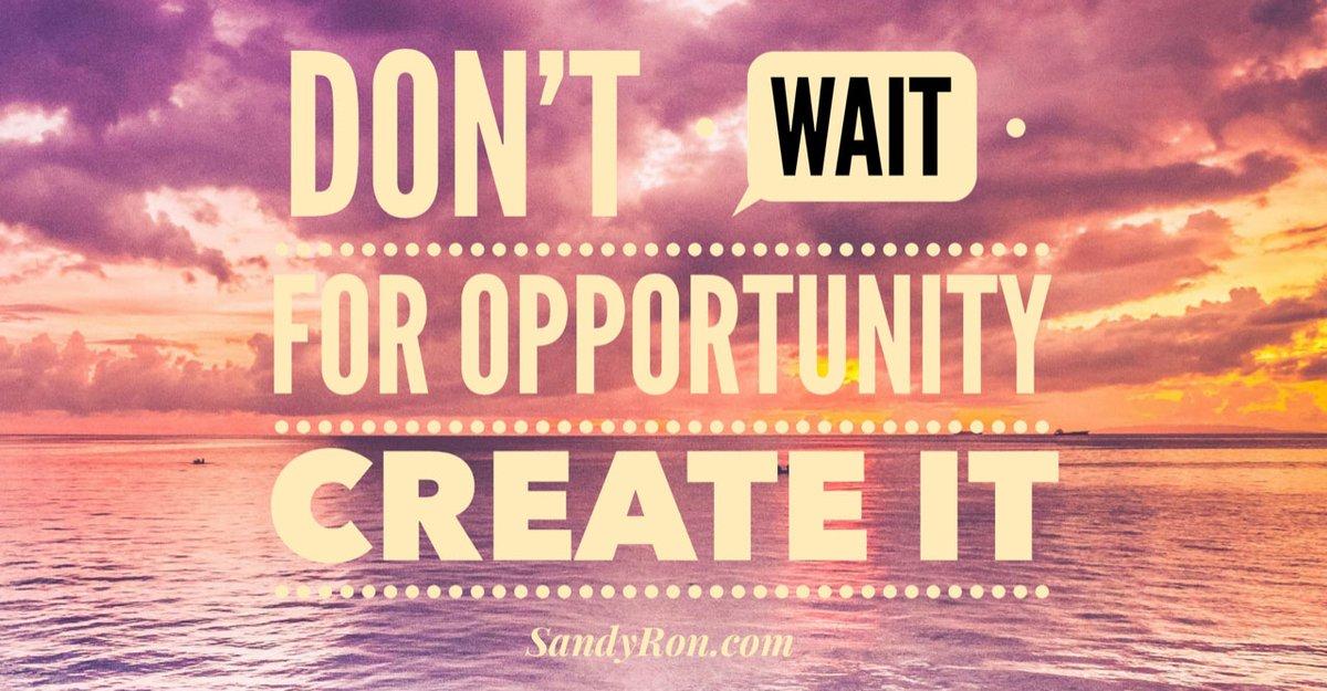 Don't wait for opportunity.  Create it.  #bemyownboss #motivationalquotesandsayings #getleads<br>http://pic.twitter.com/bZthZFN3Ui
