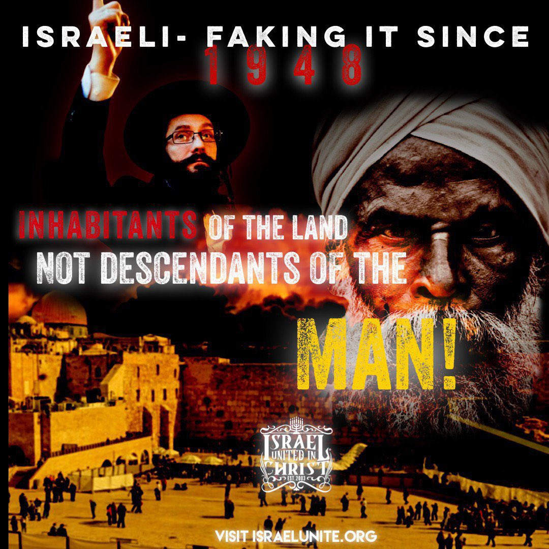 #Israeli- #Inhabitants of the Land Not #Descendants of the Man! Learn more at http://Israelunite.org The Sons and daughters of the slave trade are the true #biblical #Israelites! #arab #Africa #2019in5words pic.twitter.com/PLtIUp6VEz