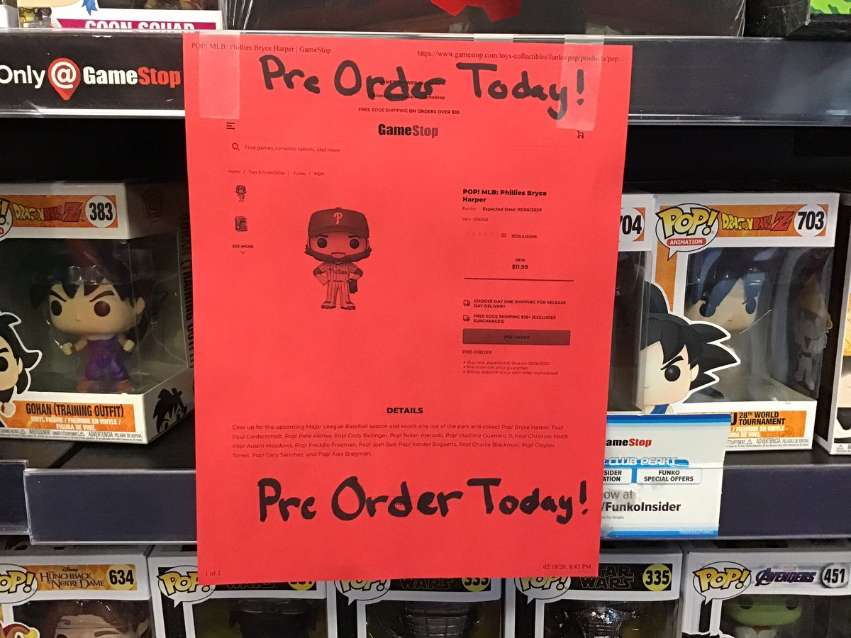 Picking up MLB the show 20? Why not grab a new Bryce Harper Funko POP!