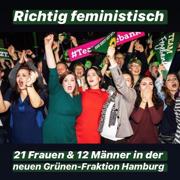 Mit 33 Mandaten nicht nur eine große Fraktion sondern mit 21 Frauen auch eine echt feministische Fraktion #bürgerschaftswahl2020 #Hamburg #grünehamburg #bürgerschaft  #feminismus #diezeitistjetzt #teamfegebankpic.twitter.com/5RjRzoK2CB