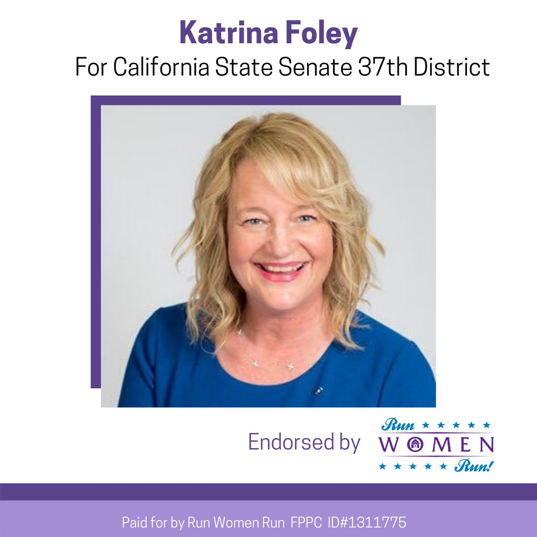 In the state Senate, @KatrinaFoley will advocate for sustainable solutions that protect our environment from climate change, work to fix our housing and homeless crisis, protect public education, and increase access to health care Vote Katrina Foley on March 3rd.  #electwomen