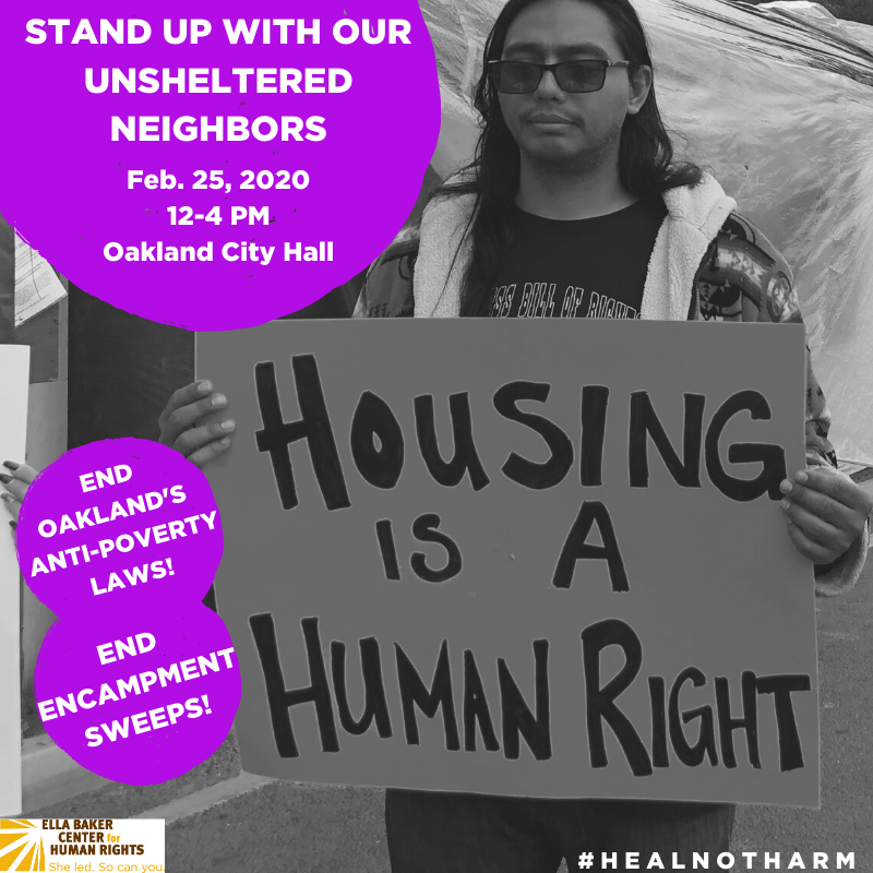 Stand Up With Our Unsheltered Neighbors @ Oakland City Hall, Oscar Grant Plaza