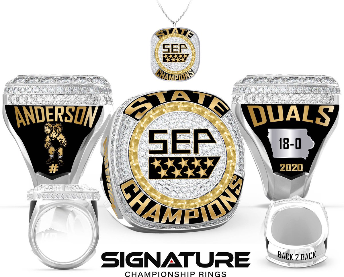 2020 championship ring is designed! BACK 2 BACK DUAL TEAM CHAMPIONS! Details coming soon for ordering. #Undefeated @sepwrestling @signaturerings https://t.co/3ztSqpItR3