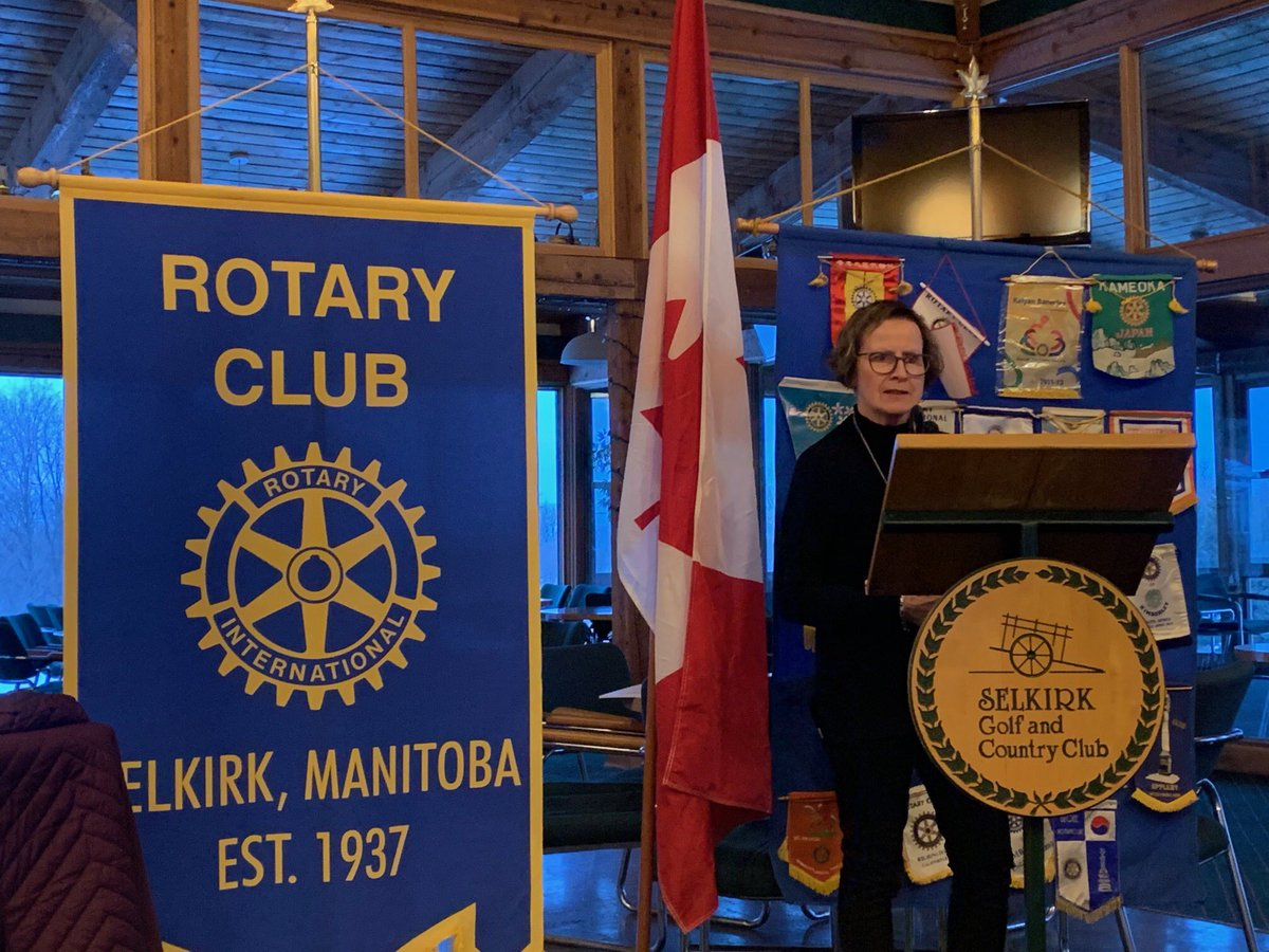 It was an honour to join the Selkirk Rotarians this evening and talk about the progress our government is making in Moving Manitoba Forward. #BetterTogether #MovingManitobaForwardpic.twitter.com/H3vIO6yi8o