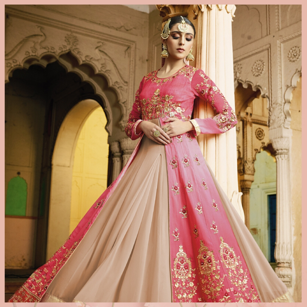 Shop this Pink Georgette Anarkali Suit with beautiful Resham work and lovely embroidery. Shop now from @mirraw  and get up to 80% off. Product details & price - http://bit.ly/37UDGin . . #ClassicSale #RelivIndia #Trendy #Anarkali #Salwar #Mirrawstyle #Mirrawpic.twitter.com/AbUPbfDhLG