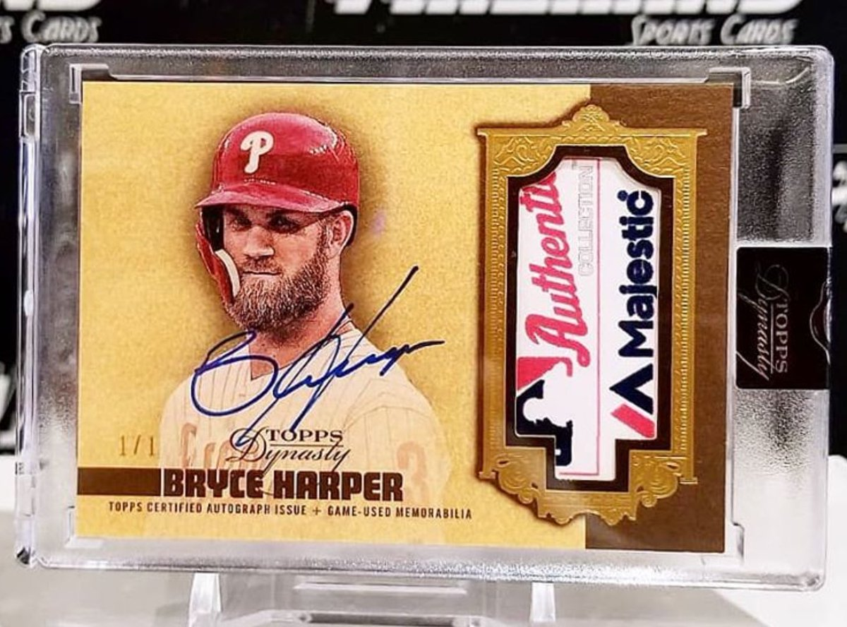 Awesome Bryce Harper tag 1/1 from @FireHand17