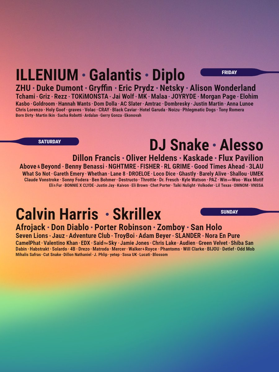 Which of these days has the best lineup?pic.twitter.com/KeZY0lPnqP