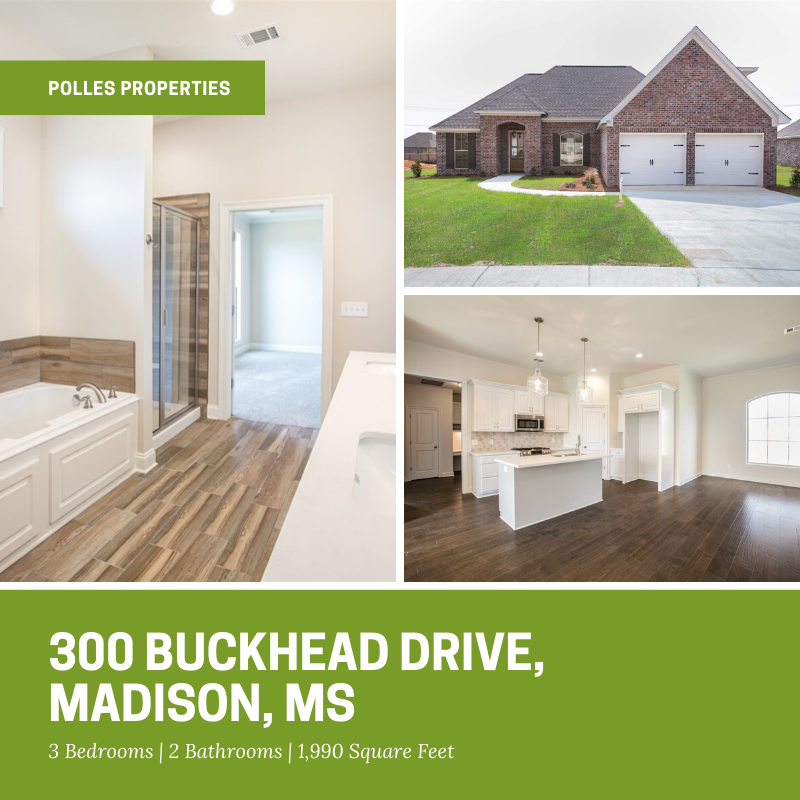 Incredibly new construction home in Timber Ridge - 3/2 with an unfinished bonus room! https://buff.ly/2nhNHVw  #realtor #realestate #home #house #education #school #shopping #family #retail #Mississippi