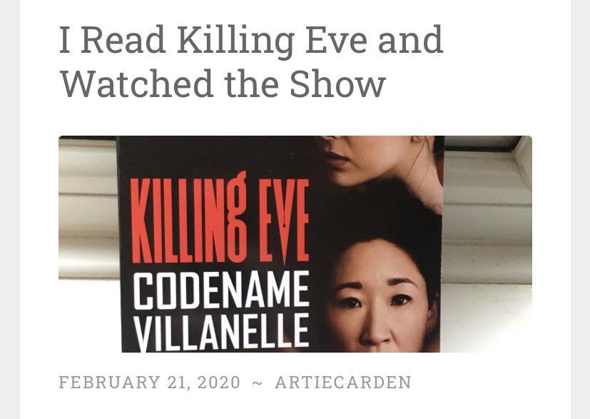 I read killing eve after watching the show... https://artiecarden.wordpress.com/2020/02/21/i-read-killing-eve-and-watched-the-show/… #bookish #booktwitter #killingeve #BookBoost #BloggersHutRT #bookblogger #blogger #bookreview #bloggerloveshare #bloggingbeesrt